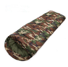 Outdoors Warm Camouflage Sleeping Bag Mountaineering Camp Camping Adult Noon Break Spring Summer Tent Sleeping Bags(China)