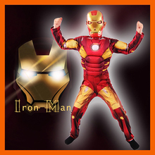 NEW ARRIVAL IRON MAN MARK 42 / PATRIOT MUSCLE FANTASIA AVENGERS SUPERHERO COSPLAY KIDS OUTFIT CHILD HALLOWEEN GIFT COSTUME