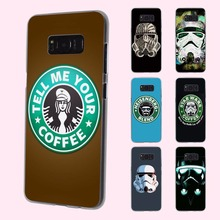 coffee series star wars logo design transparent phone shell Case for Samsung Galaxy S8 Plus S6 S7edge S5 S4 mini Note 7 5