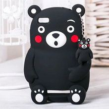 3D Lovely Cute Cartoon Silicone Soft Black Bear Animal Cover Case For Xiaomi 4i Mi4i 4C Mi4C /Xiaomi Redmi 4A Shockproof Cases(China)