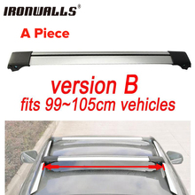 Ironwalls 1x Car Roof Rack Cross Bar 99cm~105cm Top Luggage Cargo With Lock System For Most Vehicles With Raised Side Rails