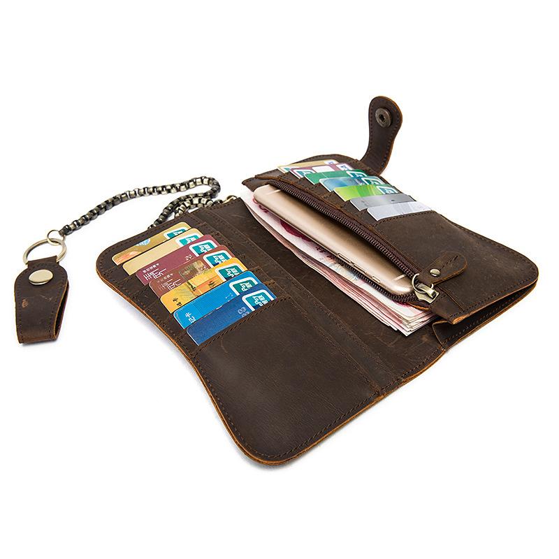 chain leather men wallets (14)