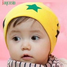 Print Star Baby Beanie For Boys Girls Cotton Hat Children Winter Hats Levert Dropship Feb06(China)