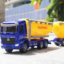 siku 1:87 Benz truck Tanker trailer silopower Alloy car model Children's toys ornaments Children like the gift
