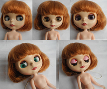 Free Shipping Nude Blyth Doll Present A Set Hair Suitable For Dress Up By Yourself DIY Change BJD Toy For Girls Special Price