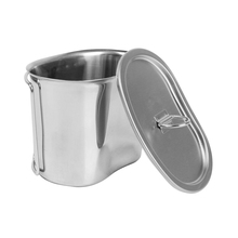 Manufacture Best Price Rover Camel GI Style Stainless Steel Canteen Military Cooking Cup Camping Cooking Cup with Handles RC321(China)