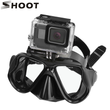 SHOOT Matte Ventilation Diving Mask Scuba Snorkel Glasses Diving Mask For Gopro HERO 6 5 4 Yi 4K SJCAM Eken H9 Camera Accessory(China)