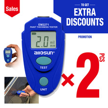 2pcs/lot Digital Thickness Gauge Car Painting Thickness Tester Paint Thickness Meter EM2271 ship from Eastern Europe warehouse