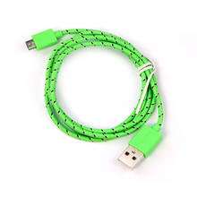 USB Cable Hemp Rope Micro USB cable Sync Data Cable Cord For Samsung For XIAOMI Android Phone for HTC Nokia micro usb cable #SJ