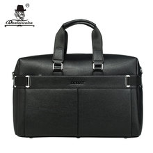 "DIOULAORENTOU 18"" Large Waterproof Men Handbag Travel Bags Black Duffle Luggage Bag Mens Split Leather Traveling Bag for Suit(China)"