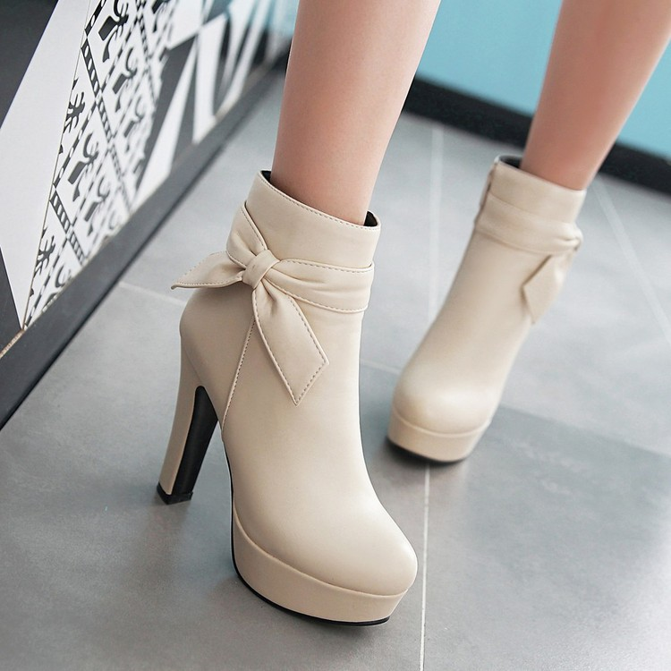 Womens Winter New Ladies Black High Heeled Boots With Buckles Comfortable Pink Platform Pumps Elegant Wedding Shoes For Bride<br><br>Aliexpress