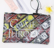 Game of Thrones Pencil Case Student Stationery Pen Bag 19.5*12.5cm #164 Make Up Bag Organizer Wallet Kids Gift(China)