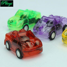 Supermarket Hot Sale Mini Pull Back Cars Small Toy Candy Colored Transparent Pull Back Warrior Car PC315(China)