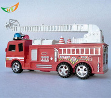 Toy car model red fire truck ambulance aerial ladder fire truck car model children christmas gift(China)