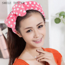 Cute Korean headdress fresh wave butterfly end hair band fashion bath wash face and dressing headbands wholesale