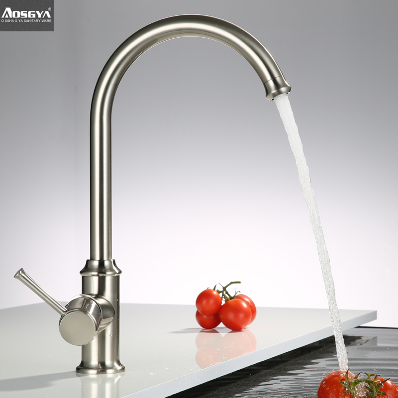 bathroom kitchen faucet copper single hole hot and cold rotating sink kitchen faucet tap mixer<br><br>Aliexpress