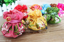 Wholesale 5PCS Chinese Handmade Mix Colors Silk Bag Coin Purse Gift Jewelry Bags Pouches(China)