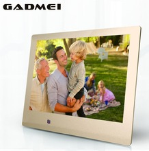 New 8 inch Fashion HD Metal Digital Photo Frame, Ultra Slim , Clock & Calendar function, MP3 & Video Player, Best Gift