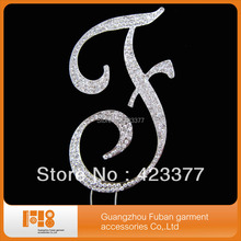 Glitter Rhinestones Letter Cake Toppers for Wedding Decoration Alloy accesories+free shipping!!