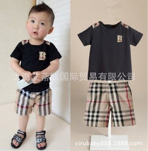 WENDYWU European and American boys checked suit casual sportswear suit Small children 2-7 years old<br><br>Aliexpress