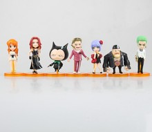 7pcs/set Japanese Anime ONE PIECE POP WCF FILM GOLD vol.2 Nami Action figure ZORO Tanaka Baccarat PVC 7cm model collection doll(China)