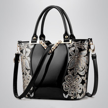 2016 Shoulder Bags Crossbody Brand New Fashion Patent Leather Women Bag Handbag Messager Elegant Luxury Ladies Black Tote Famous