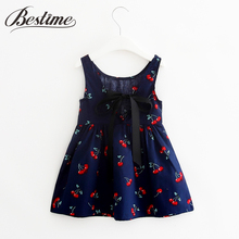 Summer 2016 Girls Dress Cotton Linen Berry Dress Fashion Sleeveless Back V Girl Sundress Children Dress Kids Clothing