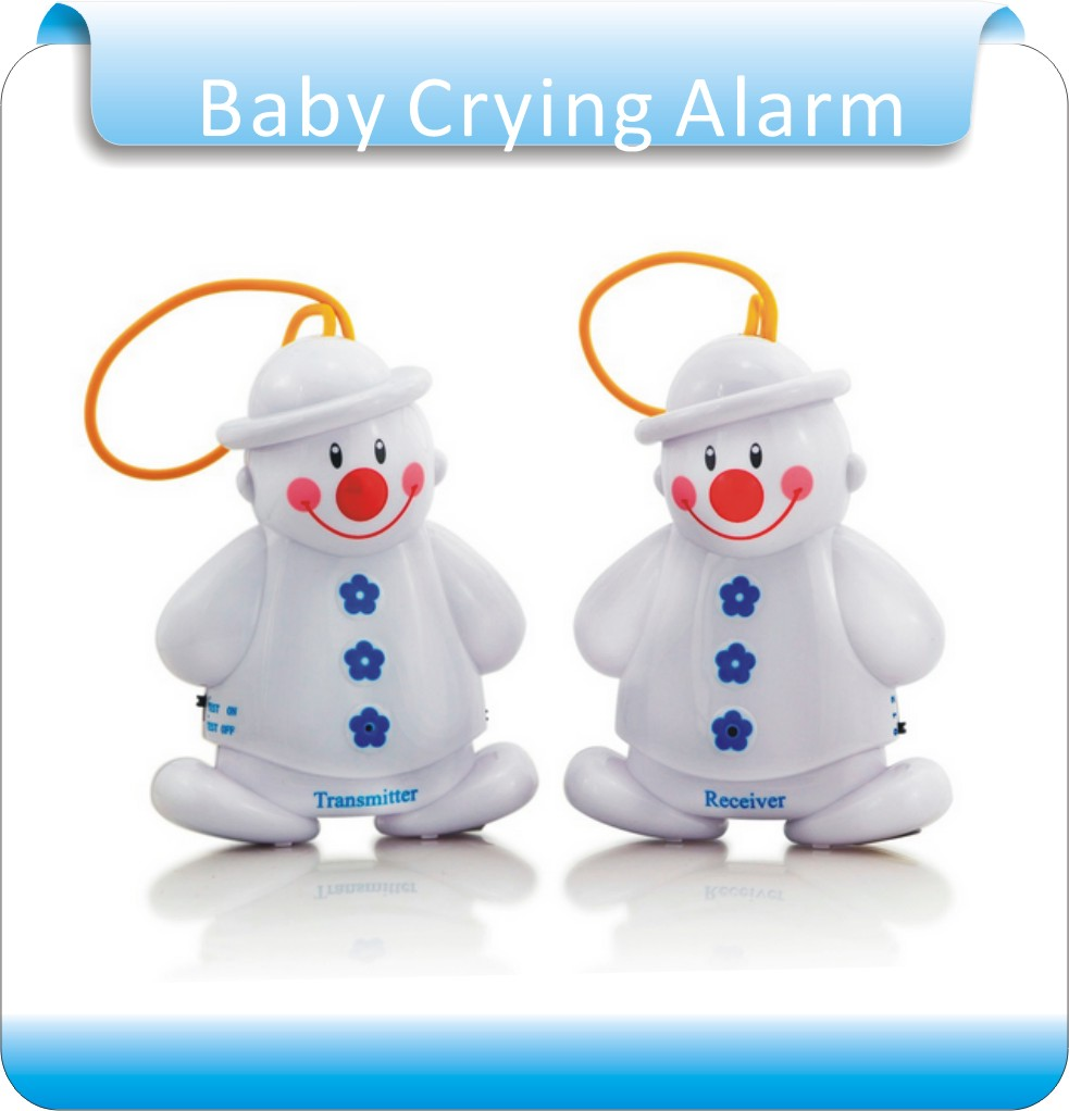 Free Shipping 2 lots Snowman Wireless Baby Cry Detector Baby Monitors, Baby Crying Alarm Monitor Watcher<br><br>Aliexpress