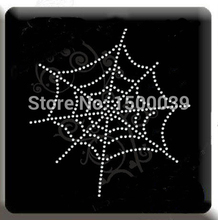 30Pcs/Lot Spider web pattern hotfix rhinestone transfers custom designs For clothes Wholesale