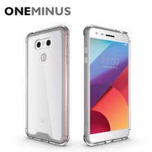 OneMinus Shock-resistant Case For LG G6 Cover Crystal Transparent Hard back Phone Cover For G6 g 6 clear Case 5.7 inch(China)