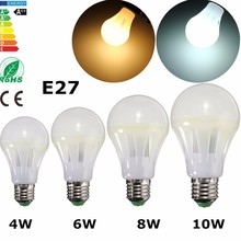 COB LED Light Bulb E27 4W 6W 8W 10W High Brightness Emerey Saving Globe Light LED Lamp Bulb White Warm White Lighting(China)