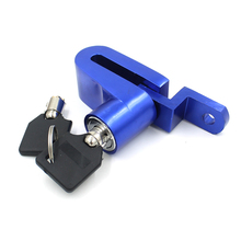 Blue Security Protect Disc Brake Lock Scooter Bike Bicycle Motorcycle Safety Anti-Theft Disk Disc Brake Rotor Lock