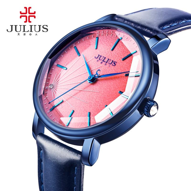 Julius Ladies Rose Gold Watches Analog Women Bracelet Watch Leather Quartz Waterproof S-shock Wristwatches JA-888 montre femme<br><br>Aliexpress