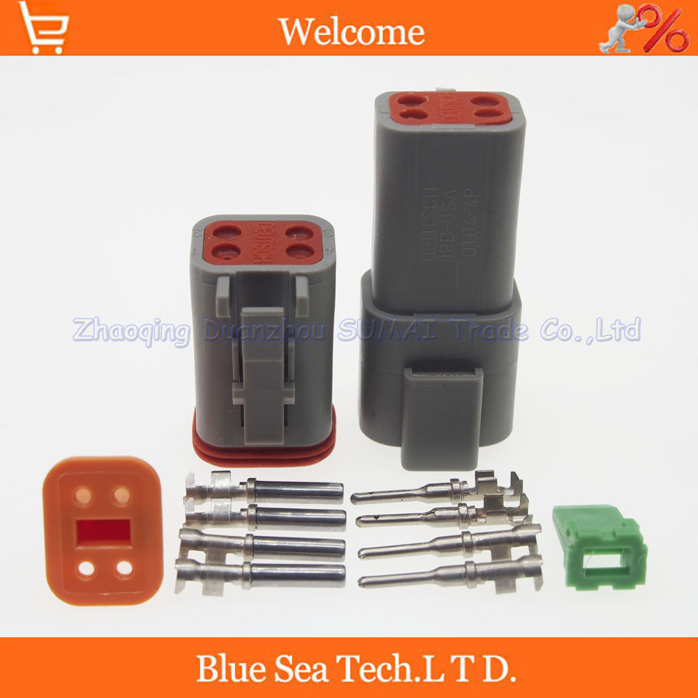 5 sets Deutsch DT06-4S and DT04-4P 4Pin Engine waterproof electrical connector for car motorcycle,truck,boats,etc.<br><br>Aliexpress
