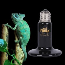 Pet Infrared Emitter Ceramic Heating Lamp E27 Heat Light Bulb Reptile Brooder 75mm 50W/75W/100W/150W/200W 110V/220V(China)