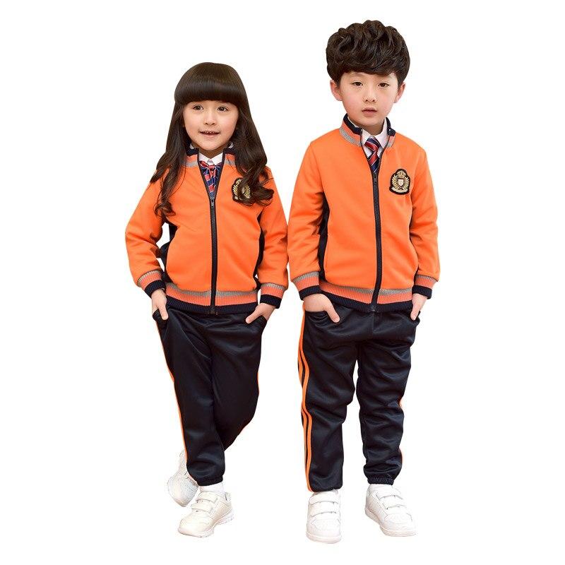 Girls Boys Clothing Sets Warm Coat Pants Sport Suit Teenagers Tops Cotton Tracksuits Girls School Uniform Kids Tracksuit 3-10T<br>