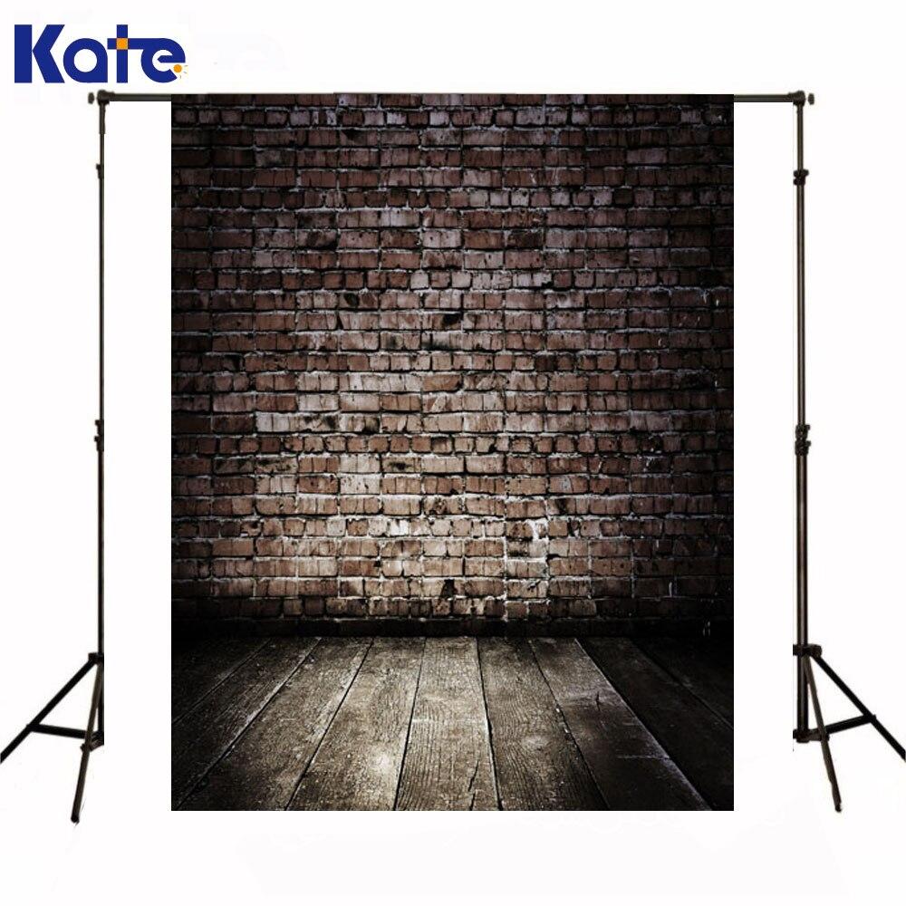 Kate Backdrops Newborn Baby Dark Red Brick Wall Fundo Fotografico Madeira Brown Wood Floor Background For Photo Studio<br>