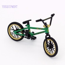 High quality Green mini BMX finger bike toys decoration Mountain bicycle Adult children kids boys funny gadgets toys fun Novelt