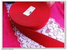 "38mm 1.5"" wide elastic webbing 10meters DIY garment clothing underwear elastic band red strap(China)"
