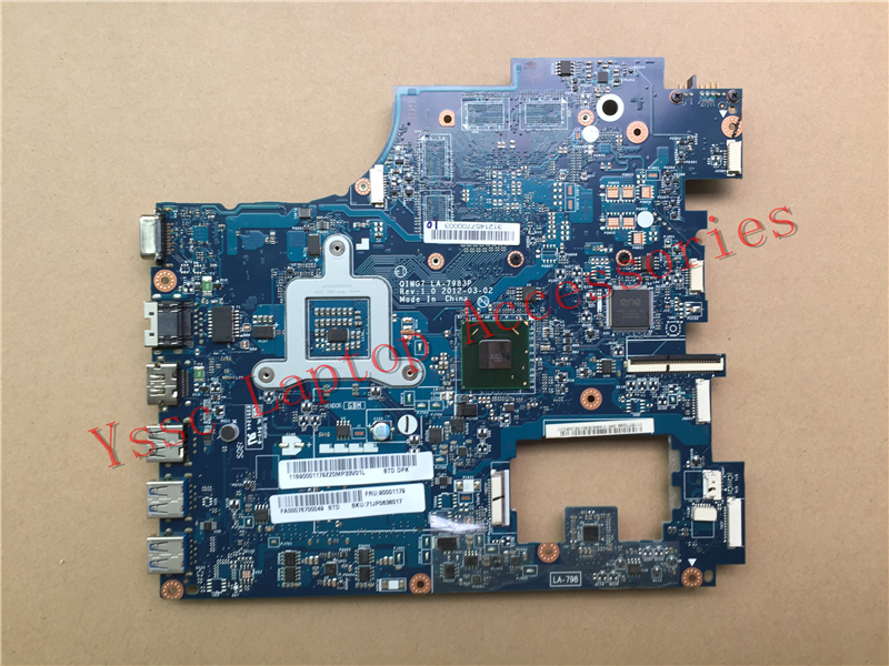 New New QIWG7 LA-7983P motherboard For Lenovo G780 laptop motherboard PGA989 DDR3 Warranty:90 Days