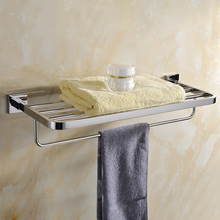Bath Towel Rack.Solid Brass Chrome Finished Towel Bar,Towel Holder.Towel Shelf.Bathroom Accessories Products(China)