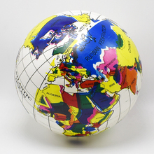 25CM Early Educational Inflatable Earth World Geography Globe Map Balloon Toy Beach Ball for kid Sand Play and Water Fun toys