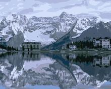 MaHuaf-j603 Lake Misurina Italy painting by numbers paint canvas wall pictures for living room(China)