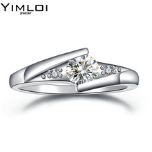 Wedding Rings Classic 6 Prongs Sparkling Solitaire Big 4 Carat Cut Zirconia CZ Engagement Forever Ring For Women RB504