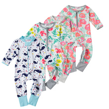 Buy Brand Baby Boy Girl Clothes Bebes Pajamas Newborn Baby Rompers Infant Kids Jumpsuit Costume Next Toddler Clothing Full Baby Wear for $4.38 in AliExpress store