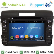 QuadCore HD 1024*600 Android 5.1.1 Car Multimedia DVD Player Radio Stereo Screen DAB+ 3G/4G WIFI GPS Map For Honda CR-V CRV 2012