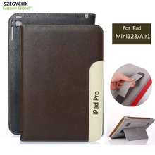 SZEGYCHX Fashion Tablet Smart Cover Laptop Case For iPad mini 4 / Air 2 PU Leather Sleep Wake function Gift Touchsreen pen