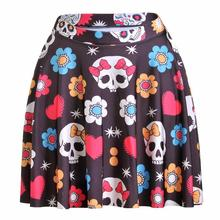 Lovely Bowknot Women Sexy Pleated Skirts Tennis Bowling Bust Shorts Skirts Slim Skull Female Fitness Sport Apparel A Style