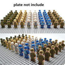 20PCS Military Team City Policem marine Armed Assault Army soldiers legoingly Figure WW2 World War Blocks Baby Toys(China)