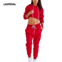 LASPERAL 2017 Tracksuit Women's Sets Hoodies Set Solid Casual Long Sleeve Track Suit Pullovers Sweatshirt+Long Pants Women Set